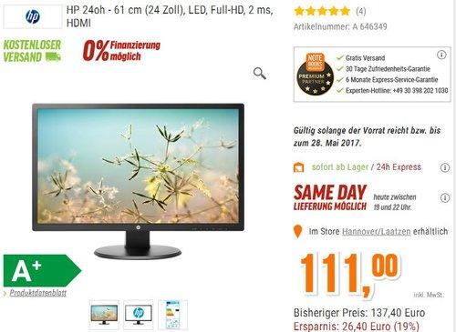 HP 24O Monitor Gaming 24 - jetzt 19% billiger
