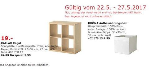 KALLAX Regal, 77x39 cm, 77 cm hoch, Birkenachbildung - jetzt 24% billiger