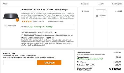 SAMSUNG UBD-K8500, Ultra HD Blu-ray Player - jetzt 25% billiger