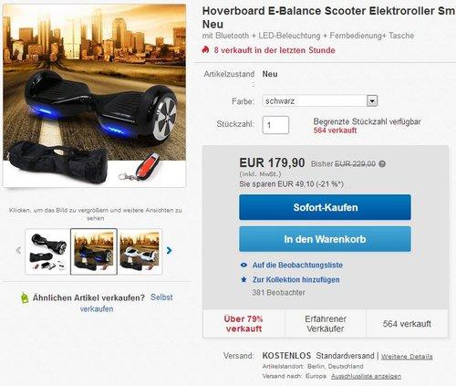 Motion V.5 - Hoverboard E-Balance Scooter - jetzt 22% billiger