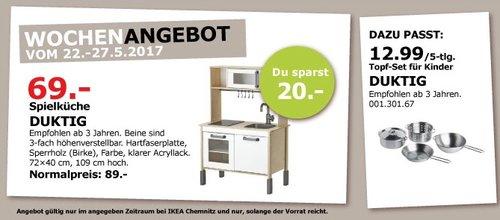 IKEA DUKTIG Spielküche, empfohlen ab 3 Jahren, 72x40 cm, 109 cm hoch. - jetzt 22% billiger