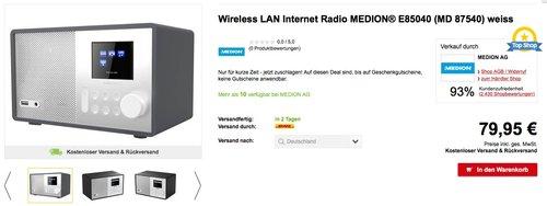 MEDION MD 87540 Internetradio mit Fernbedienung - jetzt 11% billiger