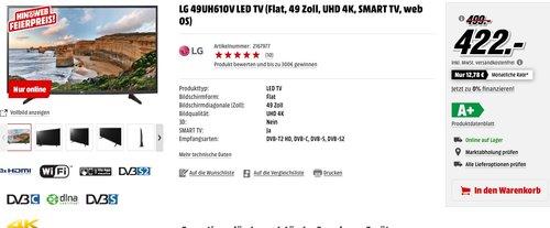 LG 49UH610V LED TV - jetzt 15% billiger