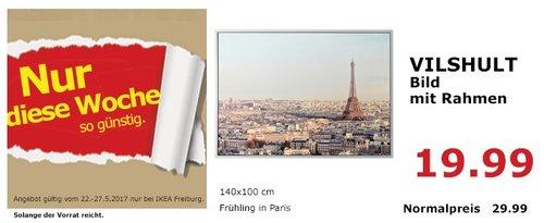 IKEA VILSHULT Bild mit Rahmen, Frühling in Paris, 140x100 cm - jetzt 33% billiger