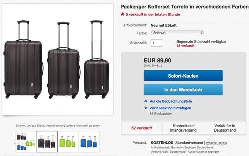 Packenger Reisekofferset Torreto 3er-Set - jetzt 40% billiger