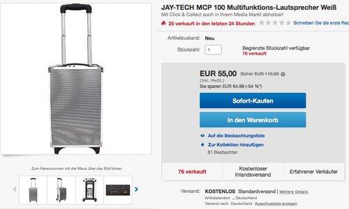 Jaytech 77003001 MCP100 Lautsprecher - jetzt 54% billiger