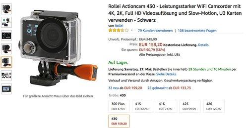 Rollei Actioncam 430 - WiFi Camcorder - jetzt 18% billiger