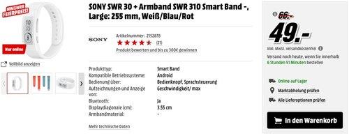 Sony Mobile SWR30 SmartBand - jetzt 33% billiger