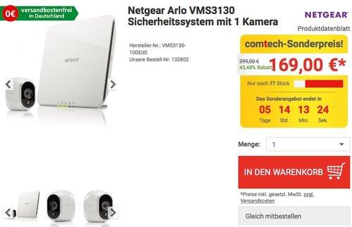 Netgear Arlo VMS3130 Smart Home 1 HD-Überwachung - jetzt 11% billiger