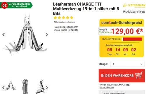 Leatherman Multitool Charge TTi - jetzt 14% billiger