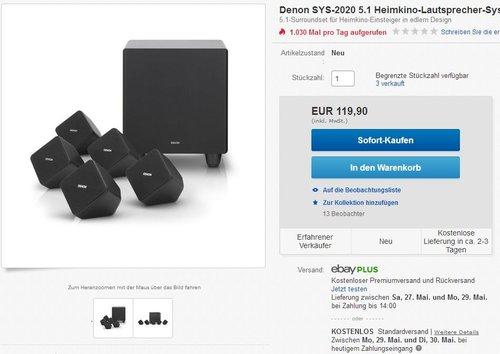 Denon SYS2020  5.1 Lautspechersystem - jetzt 37% billiger