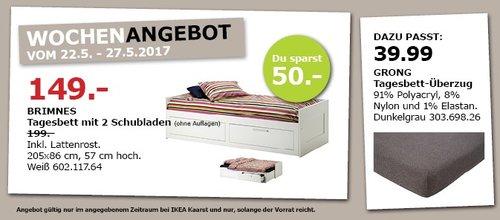 IKEA BRIMNES Tagesbett mit 2 Schubladen, inkl. Lattenrost, 205x86 cm, 57 cm hoch, weiß. - jetzt 25% billiger