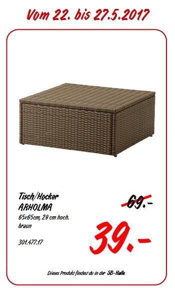 IKEA ARHOLMA Tisch/Hocker, 65x65 cm, 29 cm hoch, braun - jetzt 43% billiger