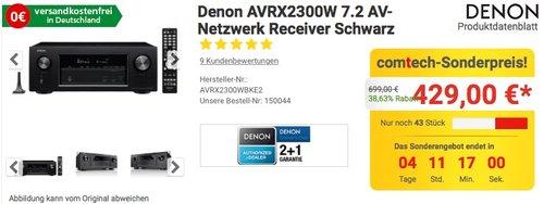 Denon AVRX2300W 7.2 AV Receiver - jetzt 14% billiger