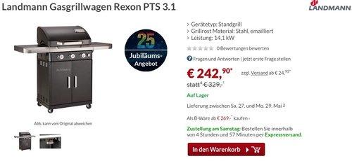 Landmann Gasgrillwagen Rexon PTS 3.1 - jetzt 26% billiger