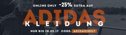 25 % Rabatt auf Adidas Kleidung - jetzt 25% billiger