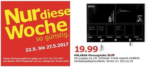 IKEA MALARNA Planungstafel, 90x60 cm - jetzt 50% billiger