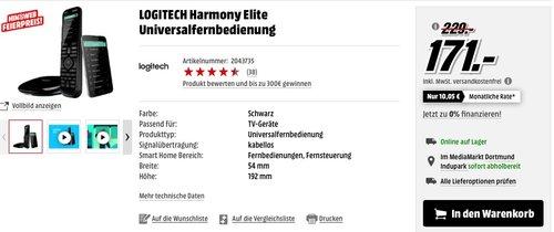 Logitech Harmony Elite - Touchscreen-Fernbedienung - jetzt 20% billiger