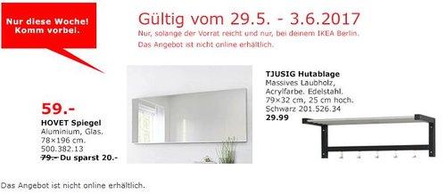 IKEA  HOVET Spiegel, 78x196 cm, Aluminium - jetzt 25% billiger