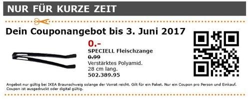 IKEA  SPECIELL Fleischzange, Verstärktes Polyamid, 28 cm, schwarz - jetzt 100% billiger