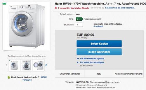 Haier HW70-1479N Waschmaschine FL - jetzt 18% billiger