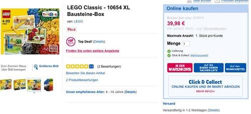 LEGO Classic - 10654 XL Bausteine-Box - jetzt 27% billiger