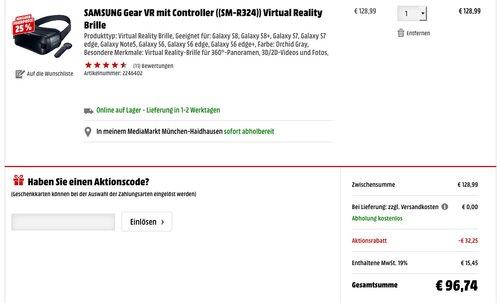 SAMSUNG Gear VR mit Controller - jetzt 25% billiger