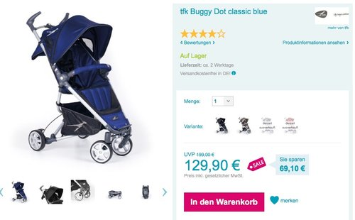tfk Buggy Dot classic blue - jetzt 35% billiger