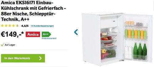 Amica EKS16171 Einbau-Kühlschrank mit Gefrierfach - jetzt 21% billiger