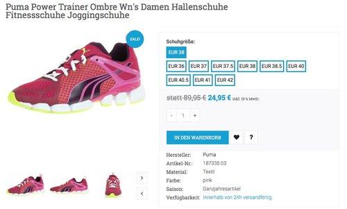 Puma Power Trainer Ombre Damen Hallenschuhe - jetzt 58% billiger