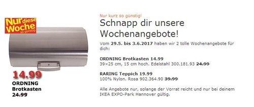 IKEA ORDNING Brotkasten 14.99 39×25 cm, 15 cm hoch. Edelstahl - jetzt 40% billiger