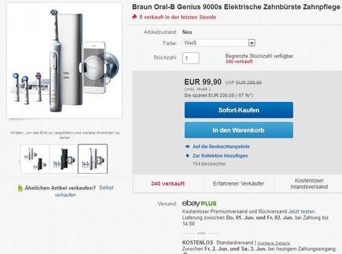 Oral-B Genius 9000S Elektrische Zahnbürste - jetzt 16% billiger