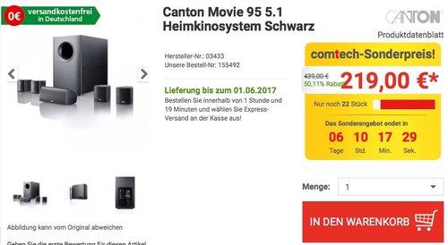 Canton Movie 95 5.1 Heimkinosystem Schwarz - jetzt 19% billiger
