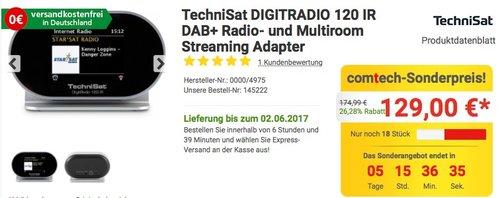TechniSat DIGITRADIO 120 IR DAB+ - jetzt 19% billiger