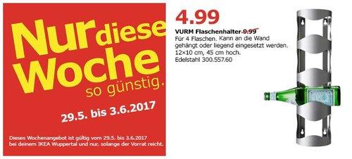 IKEA  VURM Halter für 4 Flaschen, Edelstahl - jetzt 50% billiger