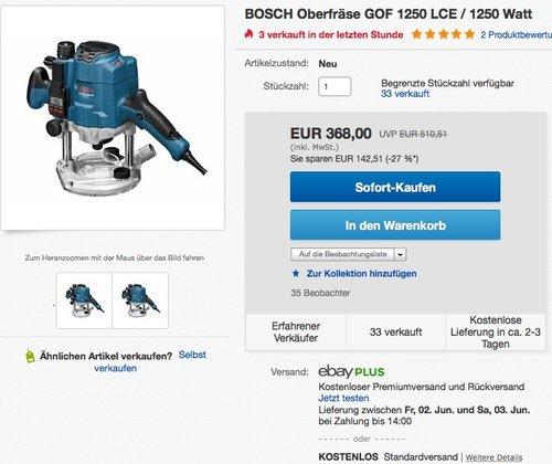 Bosch GOF 1250 LCE - jetzt 20% billiger