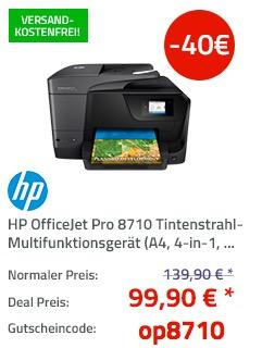 HP OfficeJet Pro 8710 Tintenstrahl-Multifunktionsgerät - jetzt 29% billiger