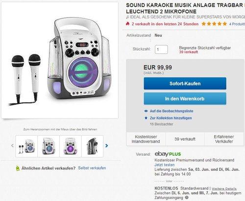 auna Kara Liquida Karaoke Anlage - jetzt 20% billiger