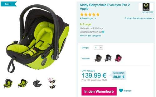 Kiddy Babyschale Evolution Pro 2 Apple - jetzt 22% billiger