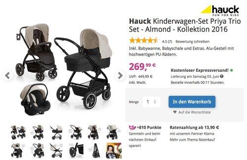 Hauck Kinderwagen-Set Priya Trio Set - Almond - jetzt 23% billiger