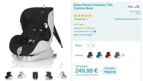 Britax Römer Kindersitz Trifix Cosmos Black - jetzt 5% billiger
