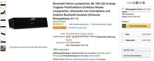 Bluetooth Stereo Lautsprecher, BX-100 - jetzt 46% billiger