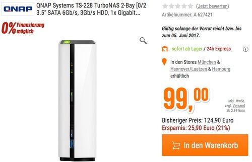 QNAP Systems TS-228 TurboNAS 2-Bay - jetzt 21% billiger