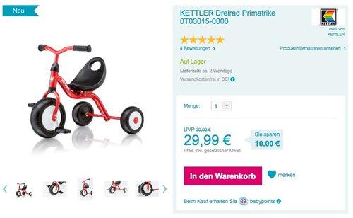 KETTLER Dreirad Primatrike - jetzt 25% billiger