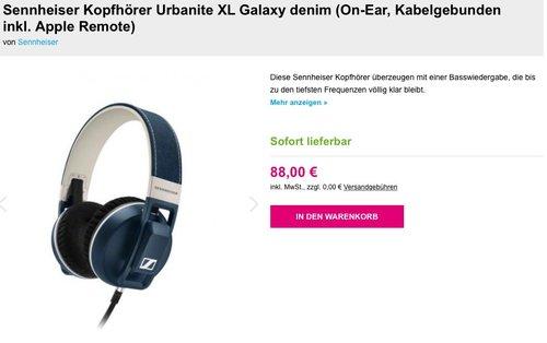 Sennheiser Kopfhörer Urbanite XL Galaxy denim - jetzt 27% billiger