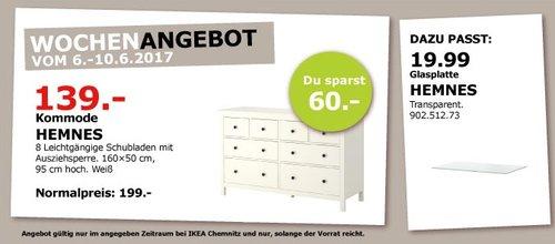 IKEA HEMNES Kommode, 8 Schubladen, 160x50 cm, 95 cm hoch, weiß - jetzt 30% billiger