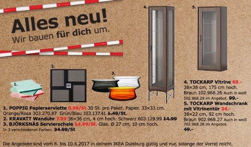 IKEA TOCKARP Vittrine, 38x38 cm, 175 cm hoch, braun oder weiß - jetzt 30% billiger