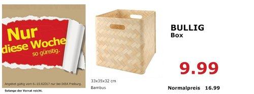 IKEA BULLIG box, 33x35x32 cm, Bambus - jetzt 41% billiger