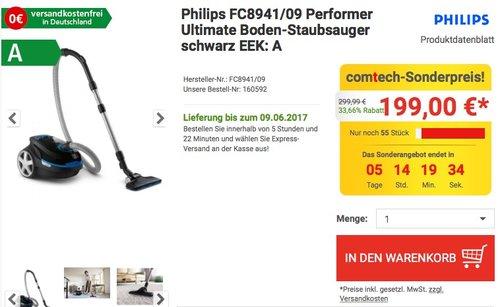 Philips FC8941/09 Performer Ultimate Boden-Staubsauger - jetzt 22% billiger