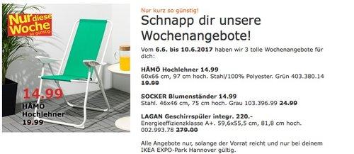 IKEA HAMÖ Hochlehner, 60x66cm, 97 cm hoch, grün - jetzt 25% billiger